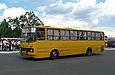 """Ikarus-260.27 гос.010-95ХА маршрута  """"Чугуев - Чкаловское """" на автостанции в г.Чугуев."""