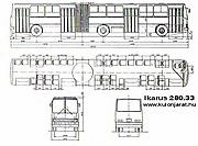 Автобус.  Подвижной состав.  Ikarus-280.