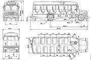 Габаритный чертеж автобуса КАвЗ-3976.