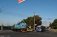 ТГМ4Б-2581 и ЗИУ-682Г00 #853 20-го маршрута на Московском проспекте возле одного из съездов с Московского путепровода.