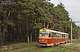 Tatra-T3SU #671-672 26-го маршрута на ул. Героев Труда.